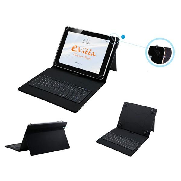 E-vitta keytab funda/teclado usb 9.7-10.1 rojo