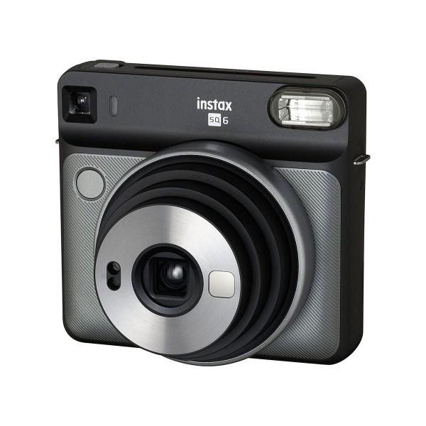 Fujifilm instax square sq6 gris grafito cámara instantánea con 5 modos de imagen y 3 filtros para el flash