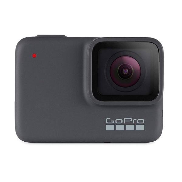 Go pro hero7 silver (2018) cámara deportiva 10mp hdr uhd 4k wifi bluetooth gps pantalla táctil y control por voz