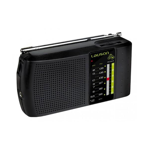 Lauson ra124 radio portátil fm/am sintonizador analógico altavoz integrado y entrada de auriculares
