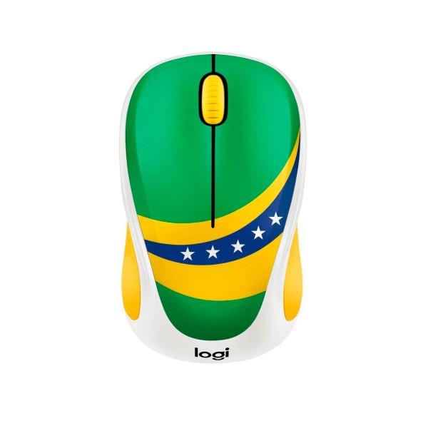 Logitech m238 fan collection brasil ratón inalámbrico compacto y cómodo máxima compatibilidad