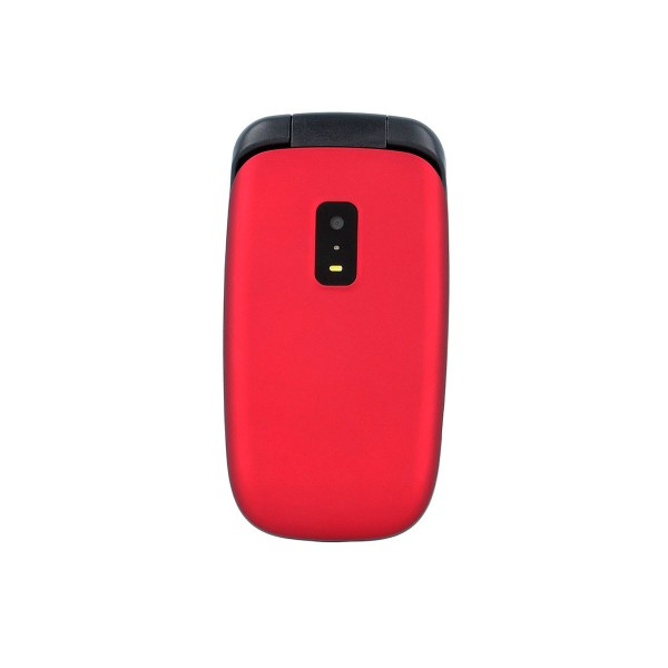 Myphone twist rojo móvil senior con tapa, cámara y bluetooth