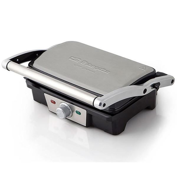 Orbegozo gr 3200 asador eléctrico grill inoxidable 800w placa con capa antiadherente