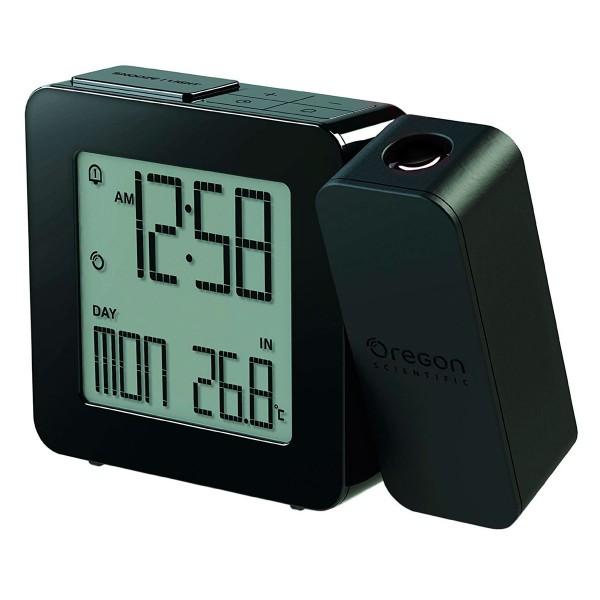 Oregon rm338p negro reloj despertador con proyección e indicador de temperatura