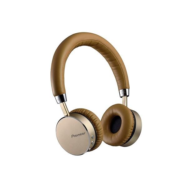 Pioneer se-mj561bt marrón auriculares bluetooth nfc 40mm con diseño de aluminio