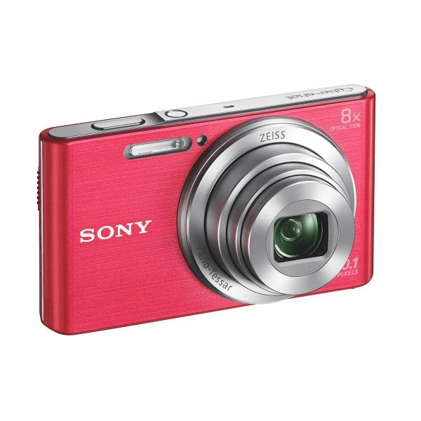 Sony dscw830p cámara de fotos 20.1 mp zoom 8x rosa