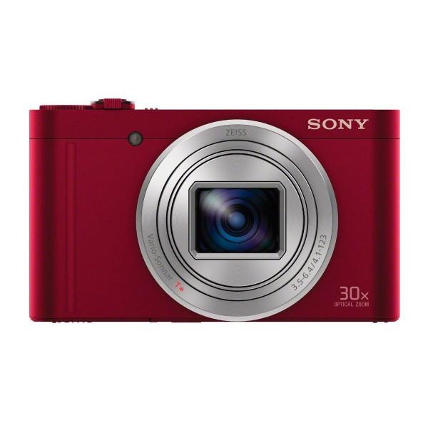 Sony dscwx500r cámara de fotos compacta 18.2mp zoom 30x roja