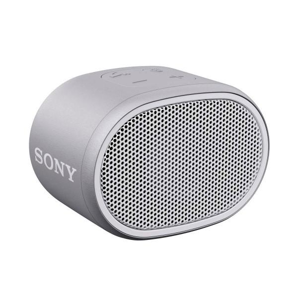 Sony srs-xb01 blanco altavoz inalámbrico bluetooth aux micrófono extra bass y resistente al agua