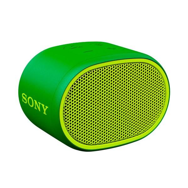 Sony srs-xb01 verde altavoz inalámbrico bluetooth aux micrófono extra bass y resistente al agua