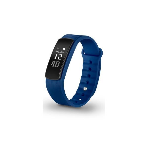 Spc 9622a smartee active azul pulsera monitorizadora notificaciones de smartphone pantalla oled de 0.96''