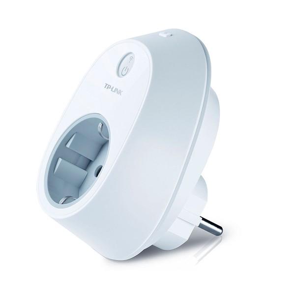 Tp-link hs100 blanco enchufe inteligente wi-fi con acceso y control remoto de dispositivos conectados