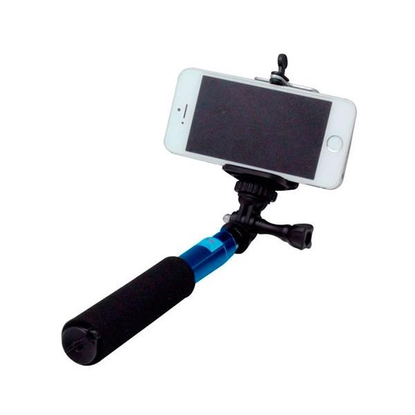 Wesdar selfie monopod azul palo de aluminio para selfies de 60cm