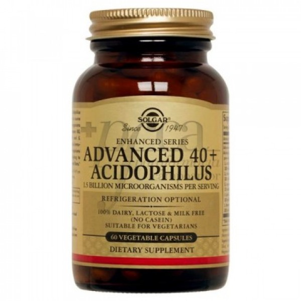 SOLGAR ADVANCED 40+ ACIDOPHILUS 60 CAPS