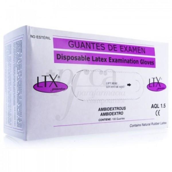 GUANTES LTX LATEX AQL 1.5 T/M 100U
