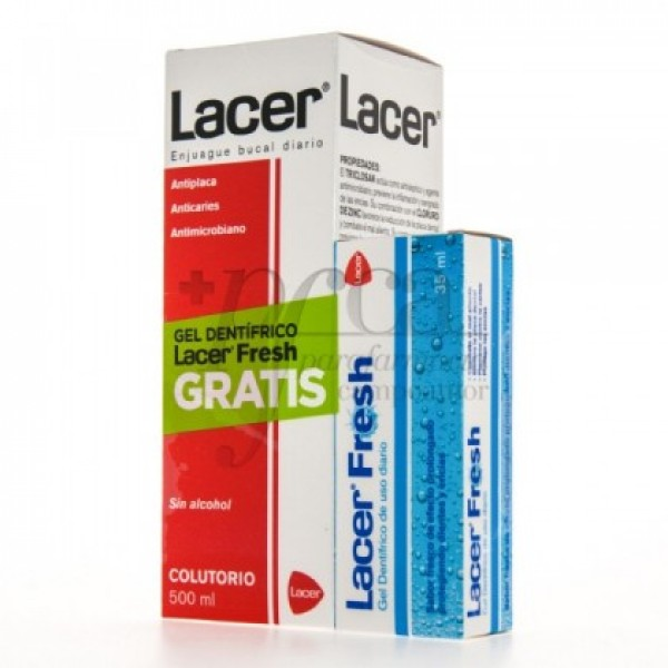 LACER COLUTORIO 500ML GEL DENTIFRICO 35ML PROMO