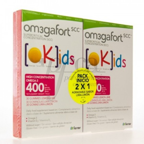 OMEGAFORT OKIDS OMEGA-3 400MG 2X 30 COMPS PROMO