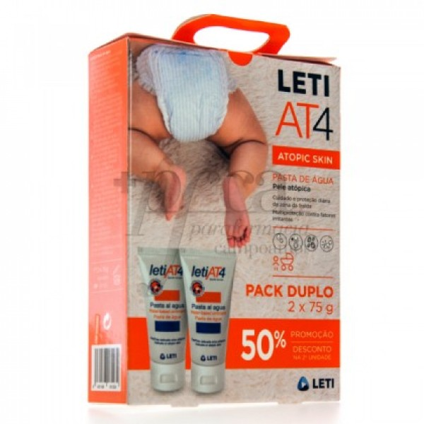 LETI AT4 PASTA AL AGUA  2X75ML PROMO