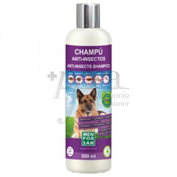 MEN FOR SAN CAHMPU ANIT-INSECTO PARA PERRO 300ML