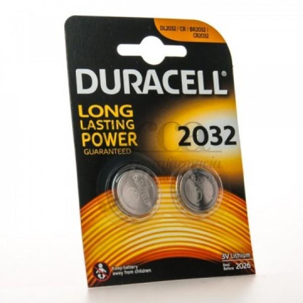 DURACELL DL 2032 3V 2 BATERIAS DE LITIO