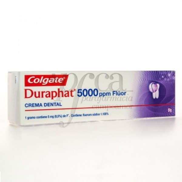 DURAPHAT CREMA DENTAL 5000 PPM FLUOR 51G