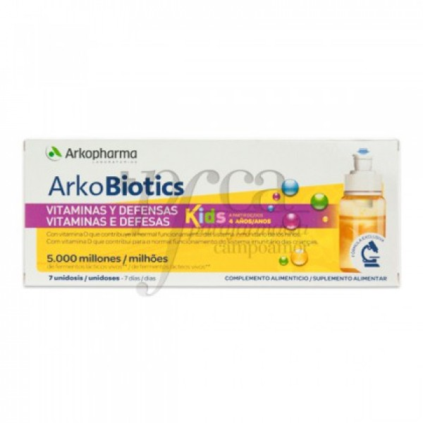 ARKOBIOTICS VITAMINAS Y DEFENSAS NIÑOS 7 U