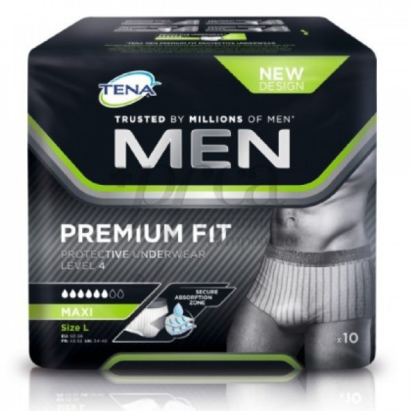 TENA MEN PROTECTIVE UNDERWEAR TL LEVEL 4 10 U