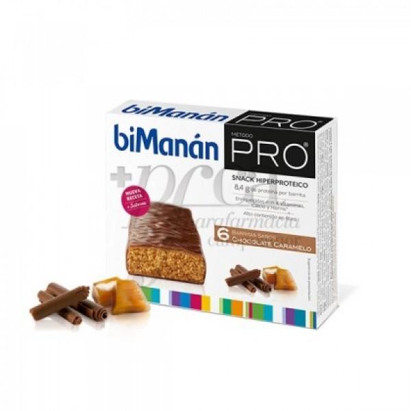 BIMANAN PRO BARRITAS CHOCOLATE CARAMELO 6 UDS