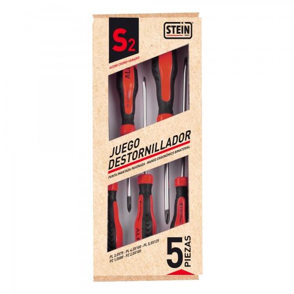Destornillador stein 3 pl.-2 ph. 5pcs.