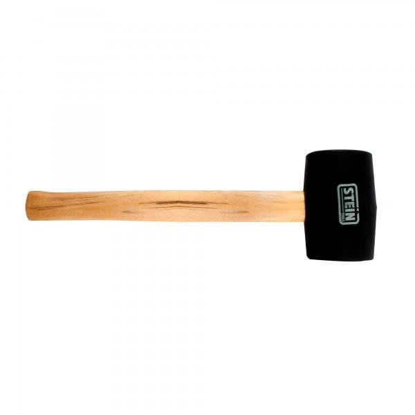 Maceta goma stein negra 700 gr. 75 mm.