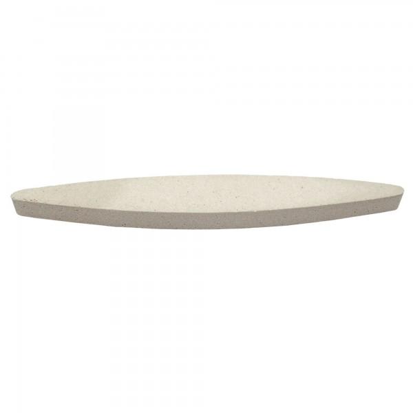 Piedra afilar ovalada corindon 21 cm.