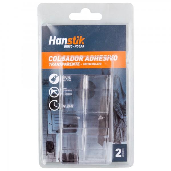 Colgador adhesivo transp.20x85mm. 2unid