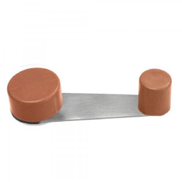 Tope puerta retenedor metalico marron