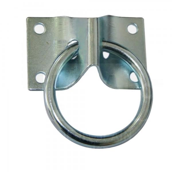 Anilla c/base 70 x 45 mm. zincada