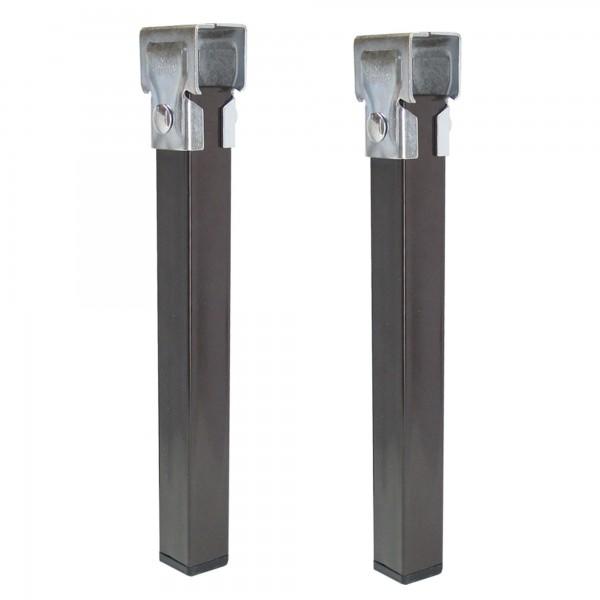 Pata somier 35x35mm. negra a-25 cm. 4u.