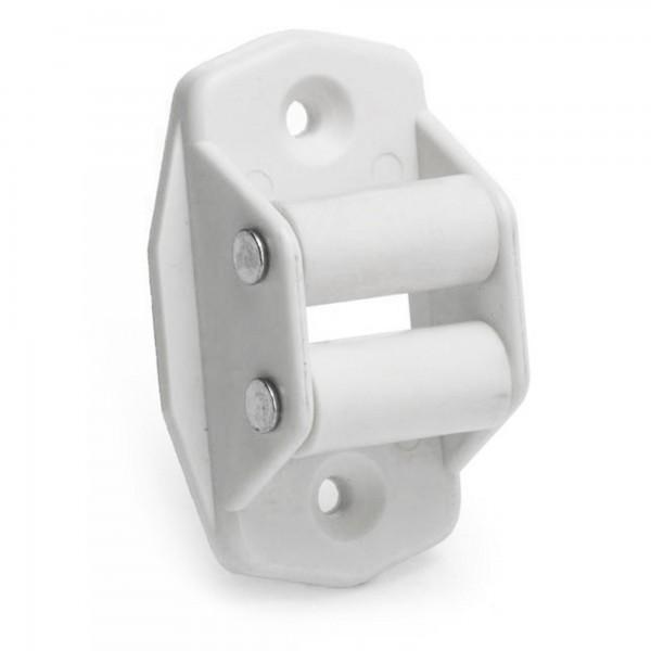 Guia cinta persiana plastico blanco