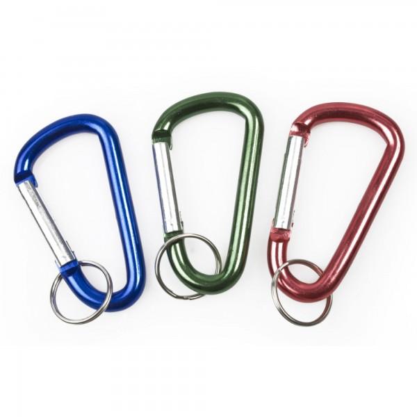 Mosqueton anilla aluminio 8 cm. colores