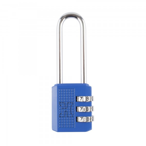 Candado combin. handlock 3 num.a/l azul