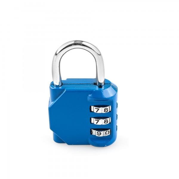 Candado combin. handlock 3 num. 30 azul