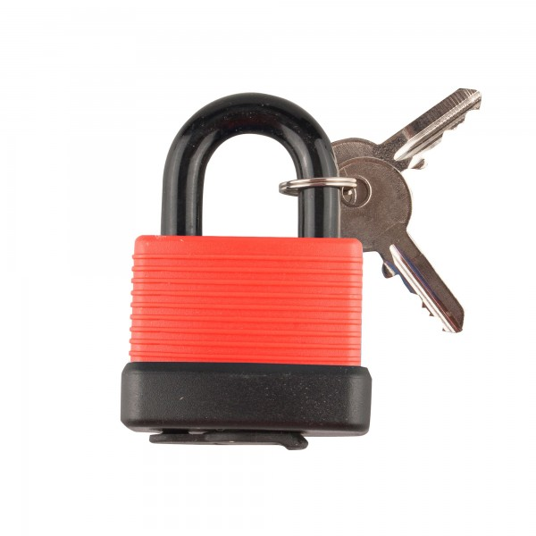 Candado handlock intemperie 50mm. rojo