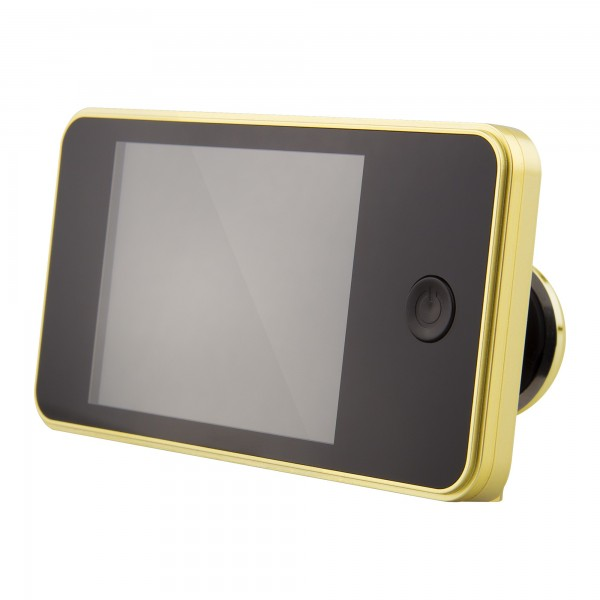 Mirilla camara digital handlock dorada