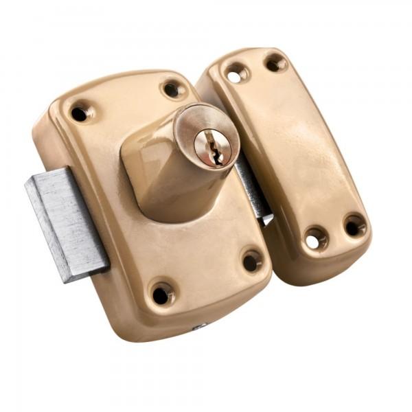 Cerradura sobrep. esma. doble llave hand