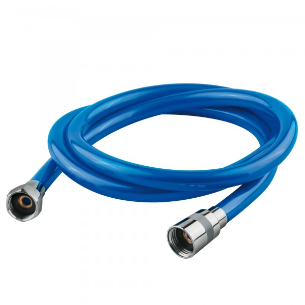 Flexo ducha pvc azul 1.8mts