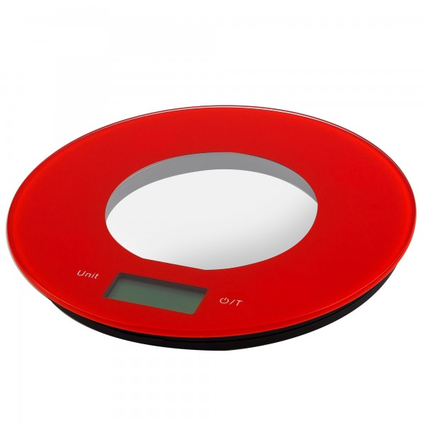Balanza cocina elect. kuken 5 kg. roja