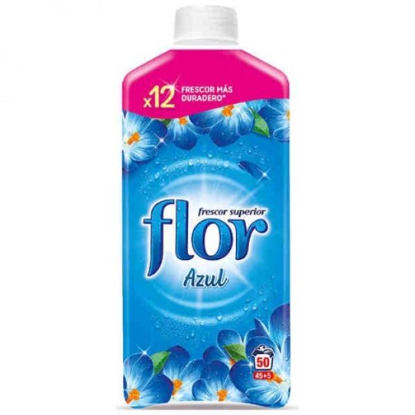 Flor Suavizante azul 45 lavados   + 5 gratis