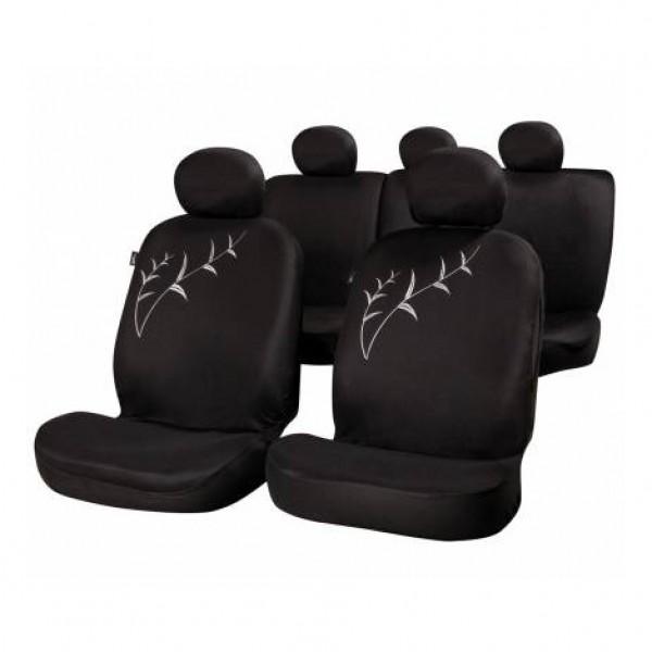 Fundas asientos textiles tallo color negro