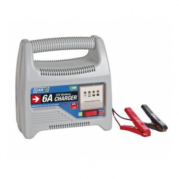 Cargador baterías moto 6 amp 12v