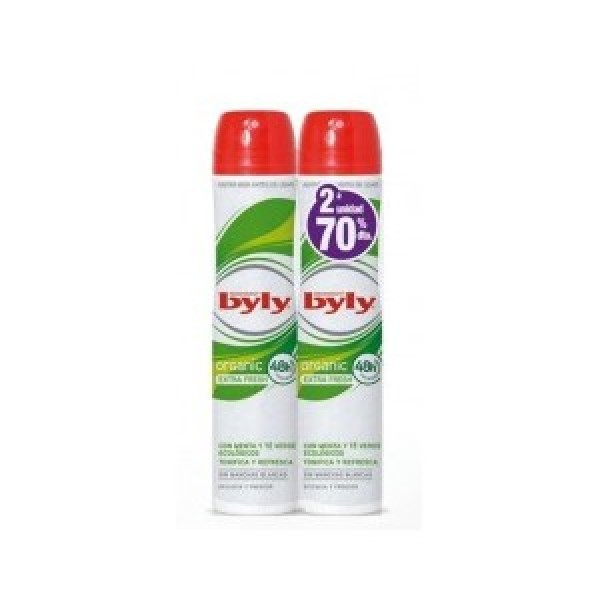 Byly Desodorante  organic extra fresh 200ml + 200ml