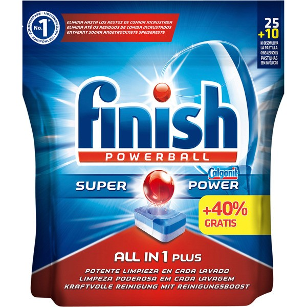 Finish lavavajillas super power  25 pastillas + 10 gratis