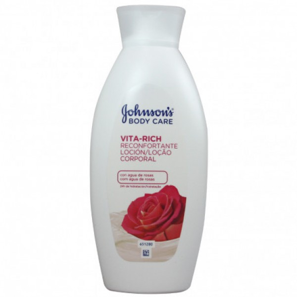 Johnson's vita rich loción corporal agua de rosas 400 ml.