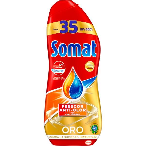 Somat detergente lavavajillas anti olor oro 35 lavados 630 ml